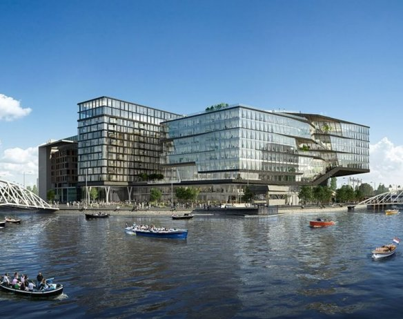 ODE Amsterdam office building steel facade support